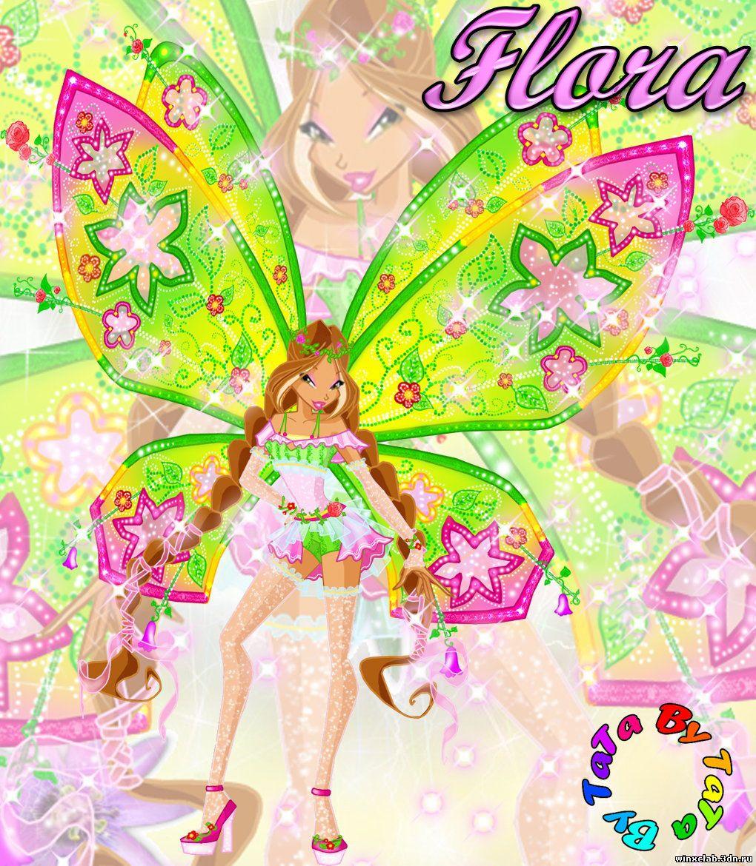 Лейла и блум и флора из винкс раскраски
